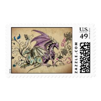 Les dragons fleuris - postage