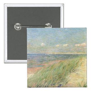 Les Dunes du Zwin, Knokke, 1887 (oil on canvas) Pinback Button