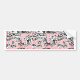 Les Environs de Paris ~ Dauphine Pink Bumper Sticker