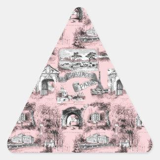 Les Environs de Paris ~ Dauphine Pink Triangle Sticker
