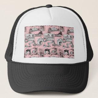 Les Environs de Paris ~ Dauphine Pink Trucker Hat
