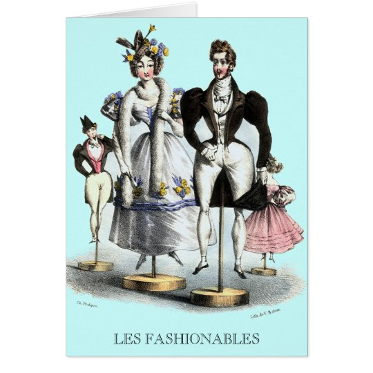 Les Fashionables by Charles Philipon Greeting Card