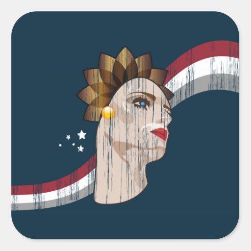 ¡Les Femmes de Vive! (Diseño adaptable!) Colcomanias Cuadradas Personalizadas