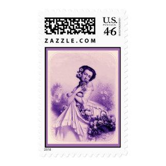 Les Femmes Révées Vintage Fine Art Print 1851 Postage