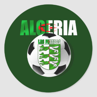 Les Fennecs Algeria flag soccer ball shield gifts Stickers