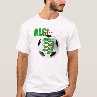 Les Fennecs Algeria flag soccer ball shield gifts T-Shirt