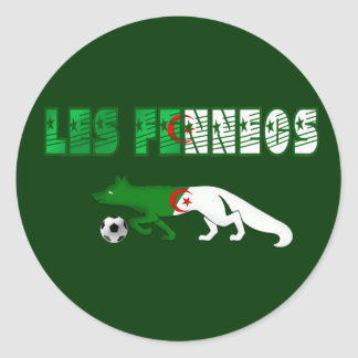 Les Fennecs Desert Foxes Algeria soccer gifts Round Stickers