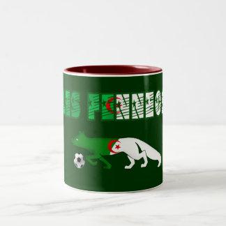 Les Fennecs Desert Foxes Algeria soccer gifts Two-Tone Coffee Mug