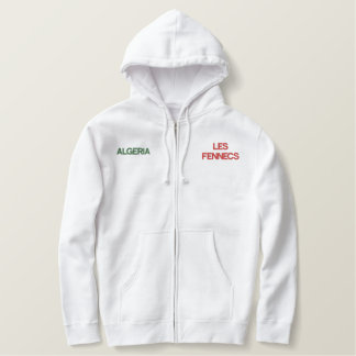 LES FENNECS embroidered hoody zip top