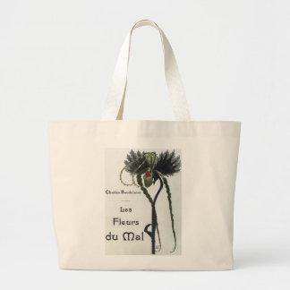 Les Fleur du Mal - Baudelaire Jumbo Tote Bag