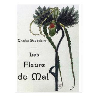 Les Fleur du Mal - Baudelaire Postcard