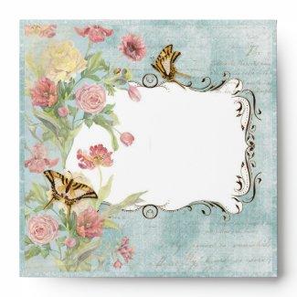 Les Fleur Pavoine - Rose n Peony Matching Envelope envelope