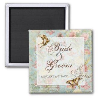 Les Fleur Pavoine - Rose n Peony Wedding magnet