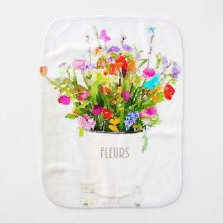 Les Fleurs Baby Burp Cloth