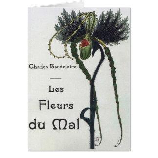 Les Fleurs du Mal - Baudelaire Card