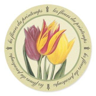Les Fleurs du Printemps Sticker sticker