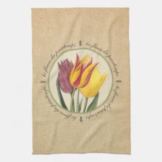 Les Fleurs du Printemps Tulips Hand Towel