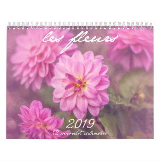 Les Fleurs Inspirational Rainbow Floral Calendar