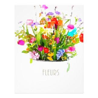 Les Fleurs Membrete Personalizado