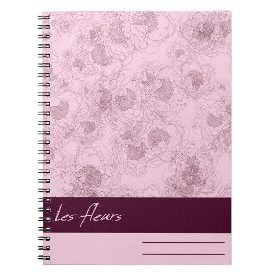 Les fleurs Notebook