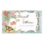Les Fleurs Peony Rose Tulip Floral Flowers Wedding Double-Sided Standard Business Cards (Pack Of 100)
