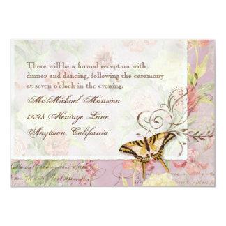 Les Fleurs Peony Rose Tulip Floral Flowers Wedding 4.5x6.25 Paper Invitation Card