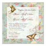Les Fleurs Peony Rose Tulip Floral Flowers Wedding Announcement