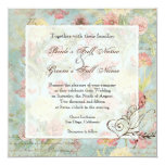 Les Fleurs Peony Rose Tulip Floral Flowers Wedding 5.25x5.25 Square Paper Invitation Card