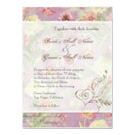 Les Fleurs Peony Rose Tulip Floral Flowers Wedding Personalized Invitations