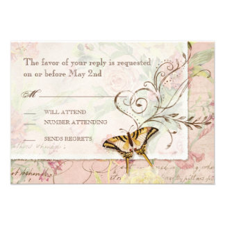 Les Fleurs Peony Rose Tulip Floral Flowers Wedding Custom Invite