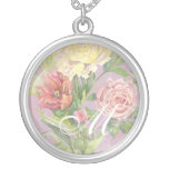 Les Fleurs Peony Rose Tulip Floral Flowers Wedding Pendants