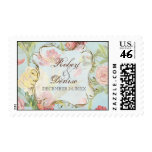 Les Fleurs Peony Rose Tulip Floral Flowers Wedding Stamps