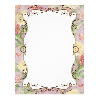 Les Fleurs Peony Rose Tulip Floral Stationery