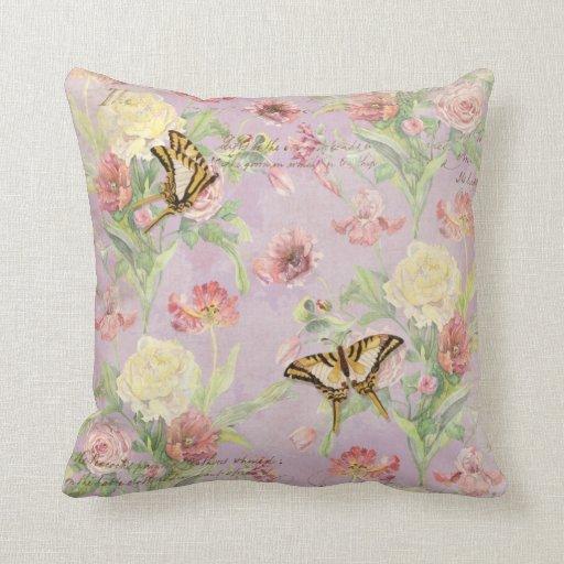 Les Fleurs Peony Rose Tulip Iris Floral Flowers Pillows