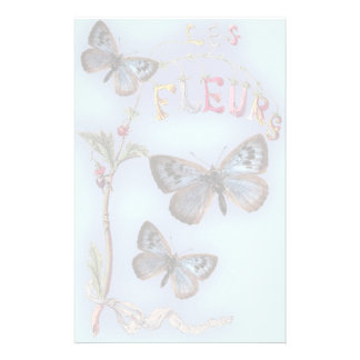 Les Fleurs Personalized Stationery