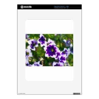 les fleurs skins for iPad