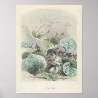 Les Fleurs Violet Poster