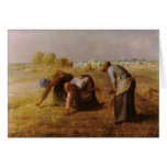 Les Glaneuses 1857 by Jean-Francois Millet Greeting Card