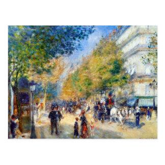 Les Grands Boulevards by Renoir Postcard