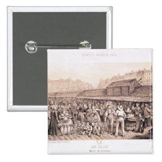 Les Halles, 1855 2 Inch Square Button