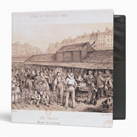 Les Halles, 1855 3 Ring Binder