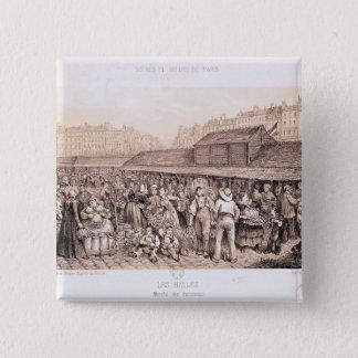 Les Halles, 1855 Button