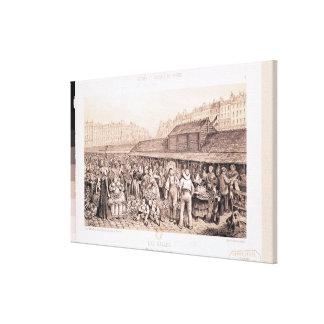 Les Halles, 1855 Canvas Print