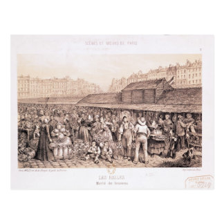 Les Halles, 1855 Postal