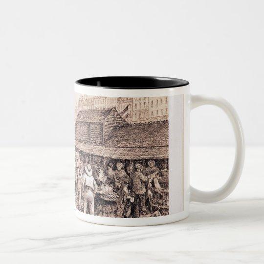 Les Halles, 1855 Two-Tone Coffee Mug
