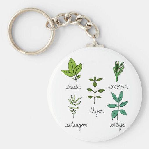 Les herbes keychain