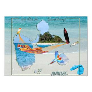 Les îles de Guadeloupe Card