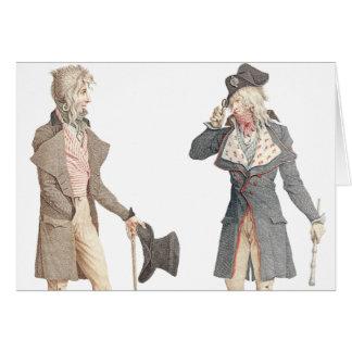 Les Incroyables - dos franceses apuestos Dandys Tarjeta