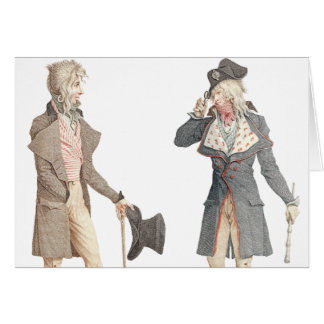 Les Incroyables - Two Dapper French Dandys Card