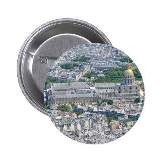 Les Invalides in Paris, France Pinback Button